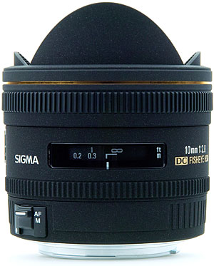 Sigma's 10mm f/2.8 EX DC Fisheye HSM lens. (Photo Credit: Sigma Photo)