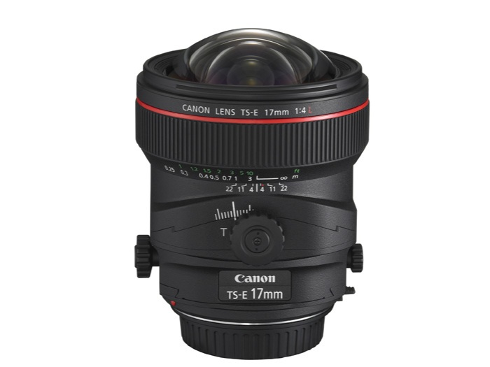 Canon's TS-E 17mm f/4L lens. (Photo Credit: Canon USA)