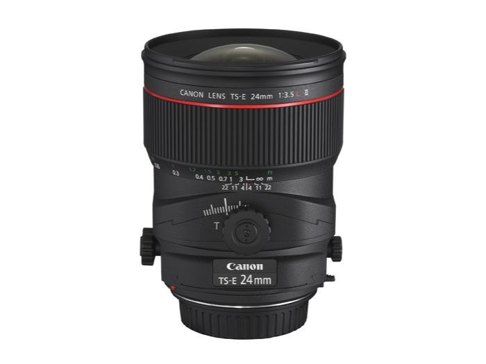 Canon's TS-E 24mm f/3.5L II lens. (Photo Credit: Canon USA)