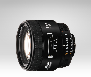Nikon's AF Nikkor 85mm f/1.8 D lens. (Photo Credit: Nikon USA)