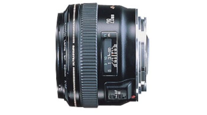 EF 28mm f/1.8 USM: A nice all-around lens, this model offers a super fast maximum aperture and sharp edge-to-edge images across the aperture range. A good student lens, you can purchase this model for about $450 US.