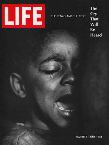 Life magazine cover of a Parks photo essay on poverty. (Photo Credit: Gordon Parks""